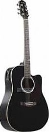 DGIORGIO BLACK ELECTRIC GUITAR FOLK