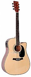 GIANNINI GUITAR NATURAL ELECTRIC FOLK
